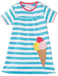 Toby Tiger Girl's Organic Ice Cream Applique Striped Dress