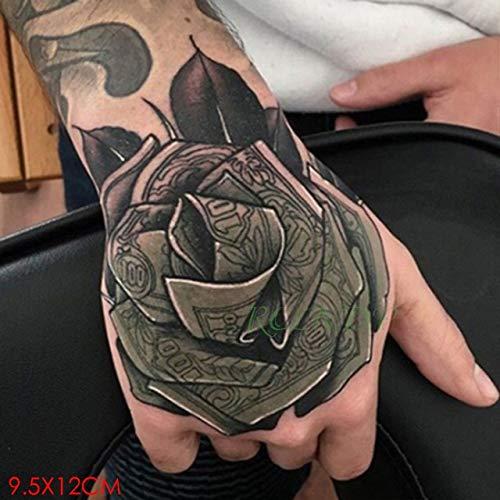 HXMAN 3pcs Wasserdichte Temporäre Tattoo Femme Aufkleber Blume Rose Superman Fake Tatto Flash Tatoo Zurück Von Hand Fuß Tato Für Mädchen Frauen Männer gelb (Superman Kostüm Ändern)