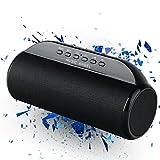 MUSIC ANGEL ® 13BT, tragbarer, kabelloser Bluetooth Lautsprecher 4.0, erweiterbar mit TF/MicroSD Karte 12 Stunden Laufzeit 12W Membran-Dual-Lautsprecher