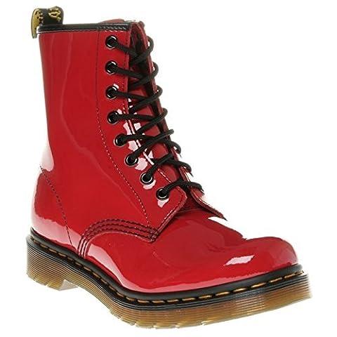 Dr. Marten's Original 1460 Patent, Women's Boots, Red, 4