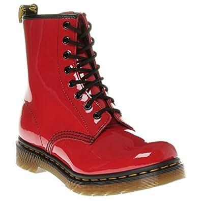 Dr. Martens 1460 Patent RED, Damen Combat Boots, Rot (Red), 36 EU (3 Damen UK)