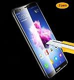 THILIVE [Lot DE 2] Verre Trempé Huawei P Smart, Protection D'écran Verre Trempé pour Huawei P Smart, Résistant aux Rayures,Ultra Claire,Dureté 9H