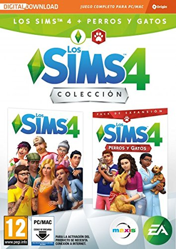 Los Sims 4 Plus - Perros y gatos bundle juego + expansión (La caja contiene un código de descarga - Origin)