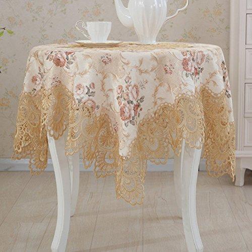 fwerq Europäische Jacquard Tischdecke runde Tischdecke Tischdecke Tv Cabinet Cover Handtuch Tischdecke Spitze Tischdecke - Eine 80 x 300 cm (31 x 118 cm)