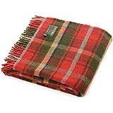 Dark Maple Tartan Pure New Wolle Knie Reisen Teppich werfen–British Made–Tweedmill