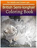 BRITISH SEMI-LONGHAIR Coloring Book For Adults and Grown ups: BRITISH SEMI-LONGHAIR  sketch coloring book  80 Pictures ,...