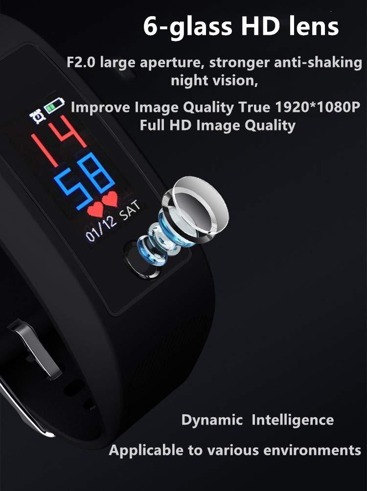Cámara Espía Oculta Deporte Pulsera, Cámara Espía Inteligente Reloj, Mini Video cámara espía Actividad Rastreador, 1080P… 4