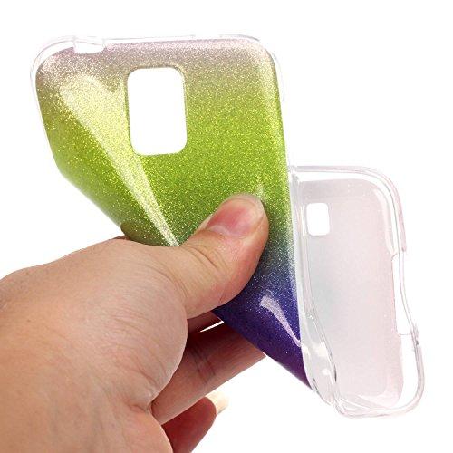Cozy Hut iPhone SE / 5 / 5S Shell fit ultra sottile Flessibile TPU Gel Shell Custodia Case Cover Protettivo Protettiva Skin Caso,TPU Silicone Bling Caso Cover Sottile Case / Cover /Cover Shell / Prote Giallo viola