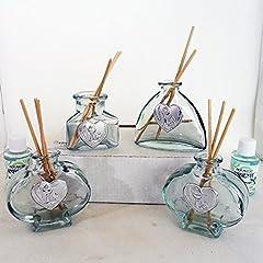 Idea Regalo - DLM16207 (kit 12 pezzi) Profumatori in vetro per Comunione bomboniera