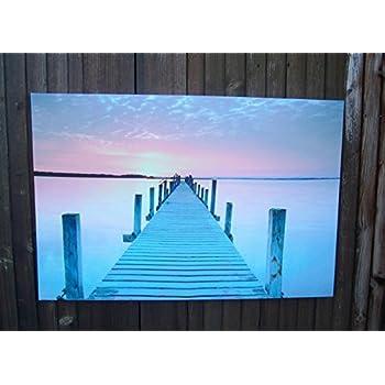 Blue Beach 3 Bilder Bild Impressionen Meer auf Leinwand Wandbild Poster