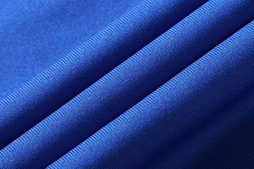 Jeansian Uomo Asciugatura Rapida Sportivo Casuale Slim Sports Fashion Tee T-Shirts Camicie LSL1059 LSL1050_Blue