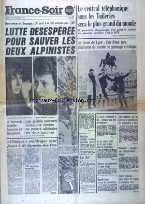 FRANCE SOIR 8 EME EDITION du 25/02/1971