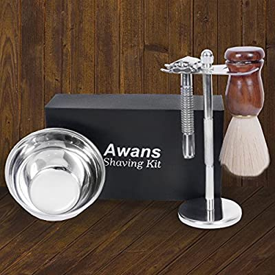 Premium Shaving Brush and Luxury Shaving Stand Set, Chrome Stand, Classic Stainless Steel Shaving Bowl, Luxury Shave Brush - Perfect for Home or Travel - Must Have Men's Present