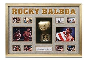 Sylvester Stallone Signature Gants de boxe avec autographe affichage encadré Motif Rocky Balboa COA