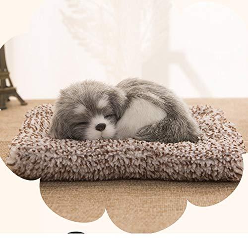 Elviray Auto Ornamente Plüsch Simulation Schlafen Hund Welpe Armaturenbrett Dekoration Autoinnenausstattung Einrichtungsgegenstände Zubehör