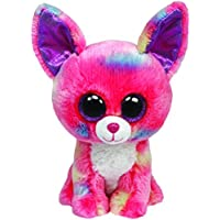 Ty Beanie Boos Glubschi - Chihuahua de peluche (tamaño grande), color rosa y