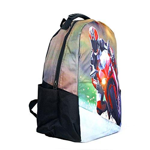 Modacubo Biker Theme Printed 20 Ltrs Laptop Backpack