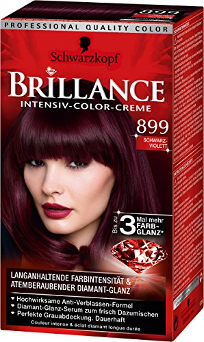 Brillance Intensiv-Color-Creme 899 Schwarz-Violett, 3er Pack (3 x 143 ml)