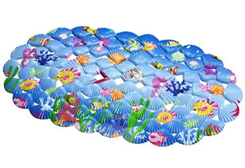 YiLianDa Mehrzweck-Badematte PVC-Material Wanne Matte Nicht Beleg Matten für Kinder Dusche Badezimmer-Sicherheit Muster Hippocampus