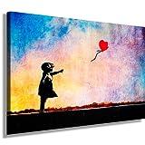 Quadro su tela Banksy Street Art Graffiti Tela Immagine di artfactory24già montato su telaio-Riproduzione Stampa Artistica Su Tela, Immagini, quadri, Poster, pittura, Pop Art Deco Arte Immagini