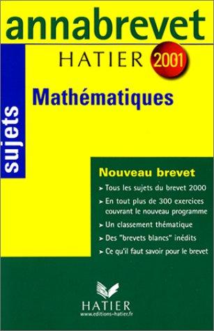 Mathématiques 2001 : Sujets par Bernard Demeillers