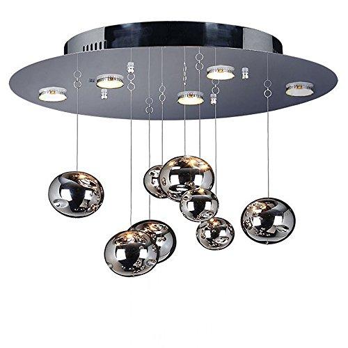 s.LUCE Deckenleuchte Cosmos Unlimited Ø 70 cm Chrom individuelle Deckenlampe für Demo Selbstbestückung