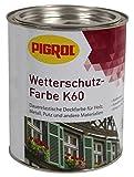 Pigrol Wetterschutz-Farbe K60 - 0,75L - schwarz Holzfarbe für innen und aussen