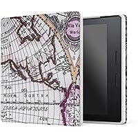 MoKo Kindle Oasis Hülle - Ultra Slim Lightweight Kunstleder Schutzhülle Smart Cover mit auto Sleep/Wake Funktion für Der neue Kindle Oasis 15 cm (6 Zoll) Display (300 ppi), Map A
