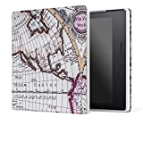 MoKo Kindle Oasis Hülle - Ultra Slim Lightweight Kunstleder Schutzhülle Smart Cover mit auto Sleep/Wake Funktion für Der neue Kindle Oasis 15 cm (6 Zoll) Display (300 ppi), Map A
