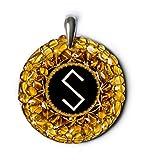 grass-snake–ámbar amuleto con Pagan antigua Báltico señal para espíritu, El Amor, La Energía Y Salud. Hecho a mano collar–espiritual New Age Pagan Báltico