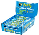 Veety - Vegan High Protein Bar 30% Haselnuss - Veganer Protein Riegel - Superfood  Reis Hanf Protein Vegan Natural Raw Roh Made in Bavaria