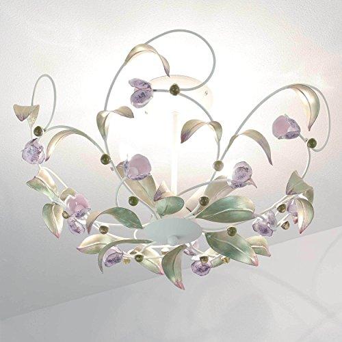 Deckenlicht Deckenlampe Deckenleuchte Florentiner Stil Rose -