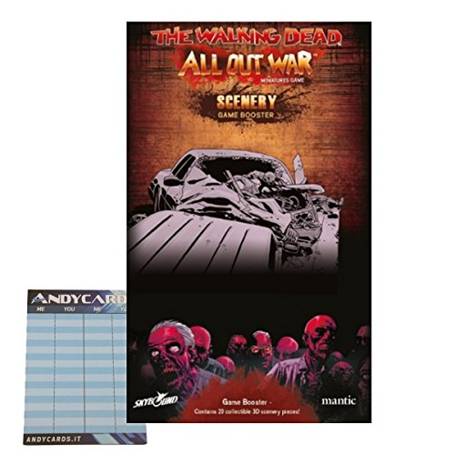 Scenery Game Booster + Segnapunti Andycards - The Walking Dead: All Out War Gioco da Tavolo ITALIANO
