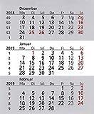 HiCuCo Kalendarium für 2 Jahre (2019+2020) passend für 3-Monats-Tischkalender...