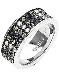 Guess Damen Fingerring Metall Silber/Grau G Rounds UBR72519