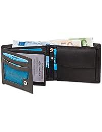 Rimbaldi® - Riegelgeldbörse im Querformat aus feinem Rind-Nappaleder in Schwarz