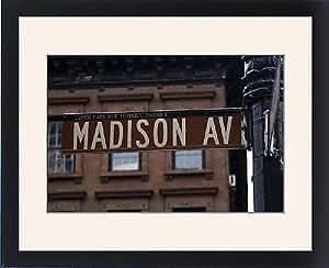 Tableau de Madison Avenue encadrée plaque de rue