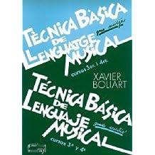 Técnica básica de lenguaje musical grado medio 3-4 (Técnia básica de lenguaje musical: grado medio)