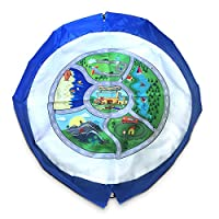 EZY Tidy Buddy Town Map Playmat and Toy Storage Bag - 35 inch - Blue