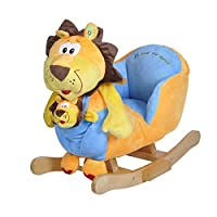 "Knorrtoys knoortoys Rocking Animal""Baba"" Lion, Multi Color"