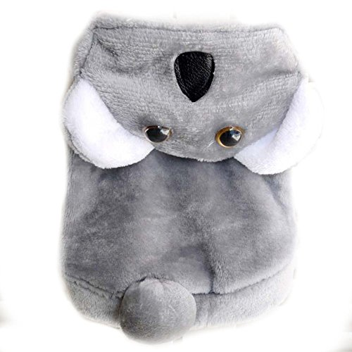 Halloween Hund Katze Koala Bär Kostüm Outfits Winter Warm Fleece Hund Pet Cat Jacke Mantel Kleidung Funny Kleine Chihuahua Hund Kleidung Hoodie (Koala Bär Hund Kostüm)