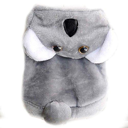 Halloween Hund Katze Koala Bär Kostüm Outfits Winter Warm Fleece Hund Pet Cat Jacke Mantel Kleidung Funny Kleine Chihuahua Hund Kleidung ()