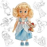 Disney Princess Animators' Collection Toddler Doll 16'' H - Cinderella with Plush Friend Jaq by Disney