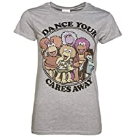 Womens Fraggle Rock Dance Your Cares Away Fitted T Shirt Grey