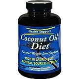 Health Support DietTM - Huile de noix de coco, 180 capsules