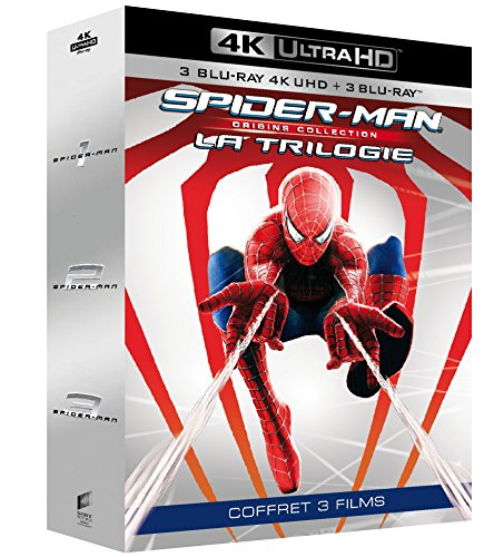 Trilogie Spider-Man - Collection Origines : Spider-Man 1 + Spider-Man 2 + Spider-Man 3 [4K Ultra HD + Blu-ray]