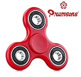 #4: Fidget Spinner 608 Four Bearing Amazing Spin Time ! Premium Quality Material Best Value for Money Hand Spinner Tri-Spinner Ultra Speed Toy - Red + Black