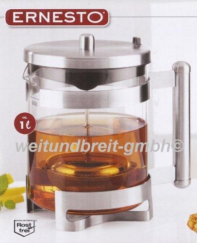ernesto teekanne Ernesto Teekanne Teesieb 1 Liter aus Borosilikat-Glas