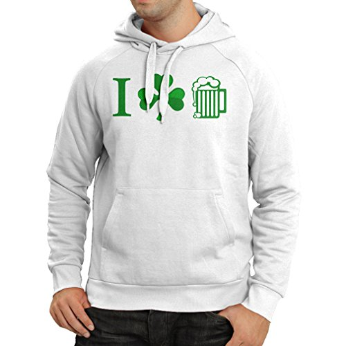 Kapuzenpullover The Symbols of St. Patrick's Day - Irish Icons (Large Weiß (Girl Country Dance Kostüme)