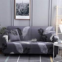 Hotniu Funda de sofá Impresa para 1 2 3 Sofá de 4 plazas-Spandex Ajuste elástico con Funda de sofá-Funda de sofá antirrugas Antideslizante fácil de Llevar de 1 Pieza (Cuatro Plaza, Pattern #HYY)